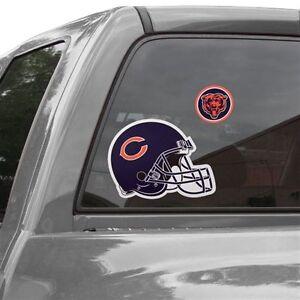 Chicago Bears Helmet Window Decal 12 Repositionable