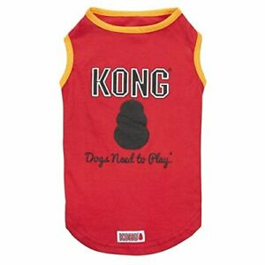 KONG DOG PUPPY SUN PROTECTION TANK TOP VEST RED BLUE XS-LARGE SUMMER PLAYTIME