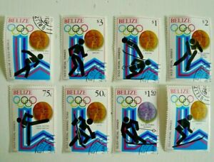 BELIZE 1980 WINTER OLYMPICS COMPLETE SET  USED CAT $ 17.90