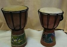 More details for a pair of djembe salamander bongo drums