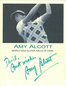 Amy Alcott LPGA Hall Of Fame hand signed autographed photo GOLF