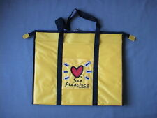San Francisco Shopping Bag / Tote - Yellow Heart - Lined, Zipper and Pockets