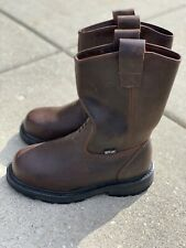 Timberland PRO, BROWN, A11YA 4101, Leather Boots, Steel Toe, Men's US size 5W