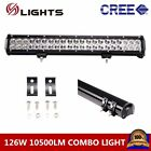 20inch 126w CREE Led Light Bar FLOOD SPOT COMBO Driving FOG Lamp ATV UTE 12V 24V