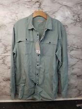 NEW ZARA Dress Shirt Men's Size XL New Long Sleeve GREEN 49$#X