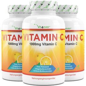 365 - 1095 Vitamin C 1000mg Tabletten 100% Ascorbinsäure - Vegan - Time Released
