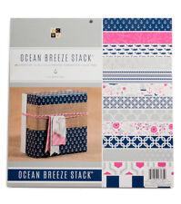 DCWV OCEAN BREEZE STACK 48 Scrapbook Sheets of 12 x 12 Printed Cardstock