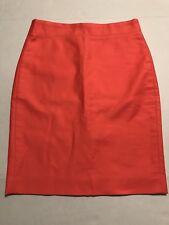 J CREW No. 2 Pencil Skirt POPPY Pink Orange Coral Size 0 EUC Career Casual