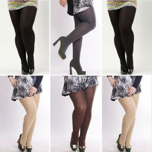 Women Ladies 120D Velvet Plus Size Tights Big Large Stretchy Pantyhose Hosiery