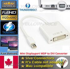 Mini DisplayPort to DVI Video Adapter Converter 1920x1200 Mini DP to DVI-I Cable