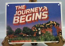 "The Journey Begins Art Card Minecraft Mine Chest Inaugural Box 4"" x 6"" New"