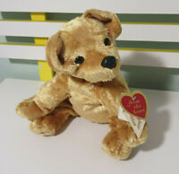 CHRISTOPHER COLLECTION TITAN GOLDEN DOG WITH TAGS STUFFED ANIMAL 26CM BEANS IN