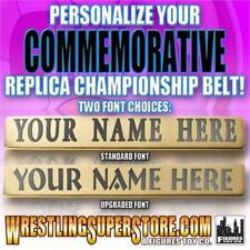 Personalized Nameplate for WWE Commemorative Size Replica Championship Belts