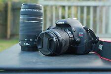 Canon EOS Rebel T3i  18.0MP DSLR Camera - Black (Kit w/ 18-55mm & 75-300mm lens)