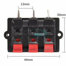 6-Way Spring Push Release Connector Plate Speaker Terminal Strip Block Release