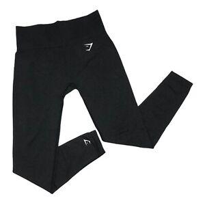 Gymshark Vital Seamless Leggings Black Marl Womens Size Medium