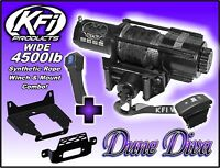 4500lb KFI Stealth Wide Winch Mount Combo - 2010-18+ Can-Am Commander 800 1000 E