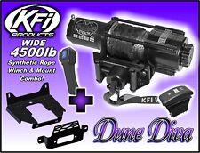 4500lb KFI Wide Stealth Winch Combo Polaris Ranger 2013-18 XP900 XP 900 570 1000