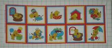 SPOT by Eric Hill ~ Playful Puppy ~ 10 Squares Pillow Fabric Panel VINTAGE 1995