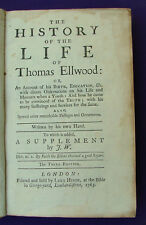 The History of the life of Thomas Ellwood, third edition [1765]