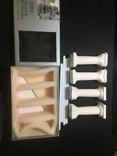 Cake Pillars & Rods Ivory Plaster Cake/Wedding Marks & Spencer x 4 in Box.