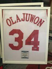 Hakeem Olajuwon Signed Custom Rockets Jersey (Beckett Witnessed)