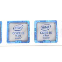 100x  Sticker Badge Label case CORE i5 vPro inside 18*18 for laptop NEW ST053