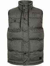 Mens Dissident Tacoma Zip UP Quilted Chest Pocket Gilet Bodywarmer Size S-XXL