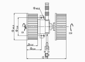 HVAC Blower Motor Front TYC 700104 fits 90-93 Honda Accord