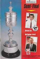 Littlewoods Cup Semi-Final 1989. BRISTOL CITY v NOTTINGHAM FOREST