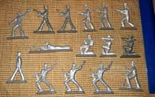 "Russian USSR TIN TOY Set Of 15 Metal Sailors ""Red Army Soldiers "" 70s"