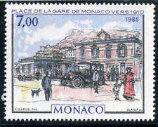 STAMP / TIMBRE DE MONACO N° 1644 ** ART / TABLEAU / LA GARE DE MONACO