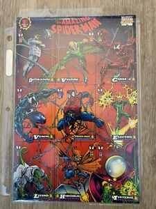 1994 The Amazing Spiderman 1st Ed. Uncut 9 Card Promo Sheet Fleer Trading Cards