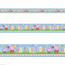 Peppa Pig Foil Party Banners, Buntings & Garlands