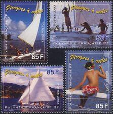 French Polynesia 2003 Pirogues/Sailing Canoes/Boats/Transport 4v set (n45866)