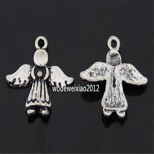 20pc Retro Tibetan Silver angel Charm Bead Pendant Findings wholesale JP523
