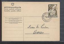 Switzerland  feldpost cancel, soldier stamp  1940 on card         KL1101