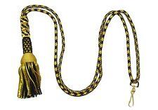 Cord Black & Gold Rope Bishops Tassle Liturgical Cord Cincture for Cross R1863