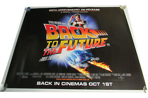 Back to the Future movie UK quad poster ORIGINAL D/S full size 25th Ann