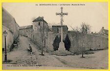 cpa 61 - MORTAGNE AU PERCHE (Orne) Le CALVAIRE Croix Crucifix Route de PARIS
