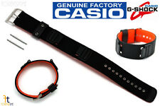 CASIO DW-5600B G-Shock 16mm Black Leather/Nylon Watch BAND Strap G-353B w/2 Pins
