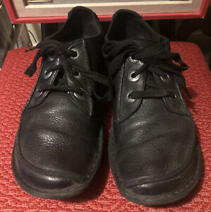 CLARKS FUNNY DREAM UNSTRUCTURED  BLACK Lace Up Leather Shoes Size UK 8 FREE P&P