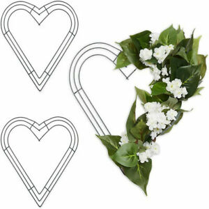 Heart Shaped Wire Floral Wreath Making Frame Craft DIY for Wedding Home Decor UK