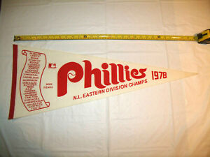 Philadelphia Phillies 1978 N.L. Eastern Division Champs Full Size Roster Pennant