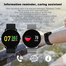 Bluetooth Smart Watch Heart Rate Blood Pressure Fitness Tracker for Samsung