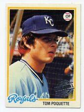1978 Topps TOM POQUETTE Kansas City Royals RARE BASEBALL CARD #357 2015 ORIGINAL