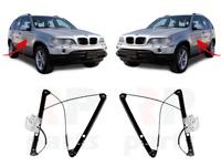 Pour BMW X5 E53 00-06 Neuf Lève-vitre Avant Ascenceur avec Moteur Paire Set