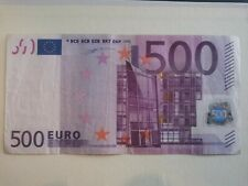 More details for 500 euro bank note rare 2002 u-06 series sign by w.f.duisenberg no rips or tears