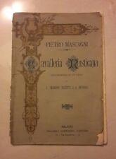 MASCAGNI CAVALLERIA RUSTICANA MELODRAMMA TARGIONI TOZZETTI MENASCI 1907