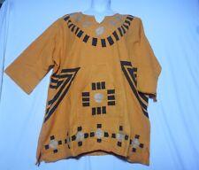 Vintage Men women Mudcloth dashiki Shirt African Blouse Organic Cotton one Size